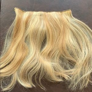 """Accessories - Weft extensions human hair 12"""" blonde clip in"""
